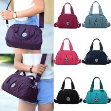 Lady Stylish Handbag Nylon Shoulder Crossbody Bag Tote Zipper Pendant Pure Color