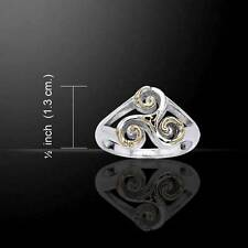 Celtic Triskele Silver & Gold Ring - beautifully crafted