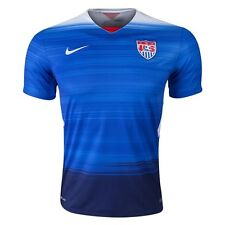 USA National Soccer Team Nike Authentic Original 2015 Away Blue Jersey