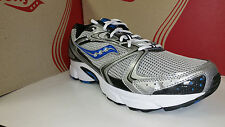 Saucony Men's Grid Cohesion 5 Silver Black Blue Running Shoes Size 7.5-13