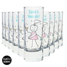 HEN NIGHT STAG DO PARTY PERSONALISED SHOT GLASSES | BRIDE GROOM TO BE Gift Idea