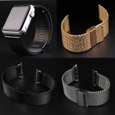 Milanese Stainless Steel Loop Watch Band Strap Adapter For Apple Watch 38/42mm