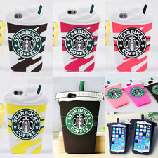 3D Cartoon Starbucks Coffee Silicone Soft Rubber Case Cover For Phone Samsung