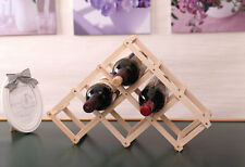 Adjustable Wooden Wine Rack 6Bottle Holder Storage Display Stand Shelf