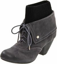 Dr. Scholl's Women's Ali Elephant Grey Ankle High Leather Suede Boots Size 7-10