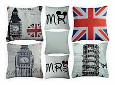 Cotton Cushion Covers or Filled Cushions Premium Quality,Retro Vintage Cushions