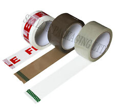 STRONG Packing TAPE 48mm x 66m Rolls BROWN CLEAR FRAGILE Parcel Carton Sealing
