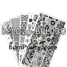 1Pc/5Patterns BORN PRETTY L026-030 Nail Art Stamp Stamping Template Image Plates