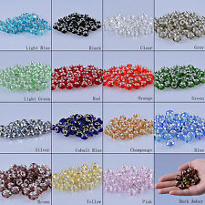 LONGWIN 20pcs Faceted Crystal Rondelle Beads Jewelry Findings Pendant Spacer