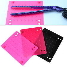 For Straightener/Curling Iron Flat Iron Travel Case Heat Resistant Silicone Mat