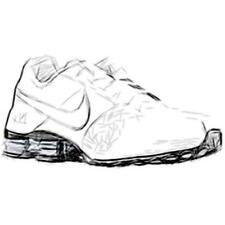 Nike Shox Deliver - Men's Running Shoes (WT/WT/Metallic Silver/BK Width:Medium)
