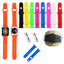 New Silicone Watch Band Fitness Replacement + Adapter For Apple Watch 38mm/42mm