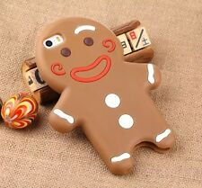 Cute Ginger Bread Cookies Soft Silicone Case Cover for iPhone 5 5S / 6 / 6 Plus