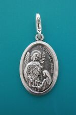 ST GABRIEL ARCHANGEL medal Clip on Charm or Pendant Mini keyring silver saint