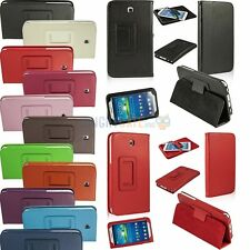 Slim Fit Folding Folio PU Leather Stand Case Cover For Samsung Galaxy Tab 3 7.0