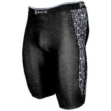 SKINS A200 Compression Half Tights - Men's Running Clothing (Black/Pixelled)
