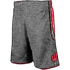adidas College Point Guard Basketball Shorts - Men's Wisconsin Badgers (Black)