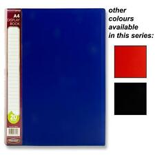 A4 Display Presentation Document Folder Book File | 20 Pockets Portfolio Colours