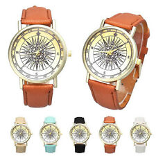 Unisex Watches Leather Casual Analog Quartz Wrist Watch Round Dial Couple Watch