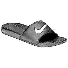 Nike Benassi Swoosh Slide - Men's Casual Shoes (Black/White Width:Medium)