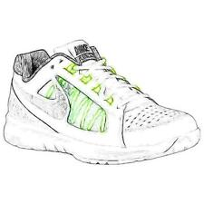 Nike Air Vapor Ace - Men's Tennis Shoes (White/Volt/Night Silver Width:Medium)