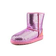 Ugg Australia Youth Short Sparkles   Round Toe Synthetic  Snow Boot