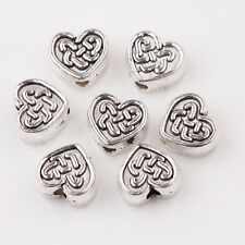 15/30Pcs Tibet Silver Connectors Heart shaped  Bead Jewelry Charms  DIY 7x6x3mm