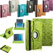New Embossed Flower Leather 360 Rotating Smart Cover Case For iPad Air / iPad 5
