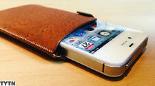 Leather look Pull Tab Pouch Case Cover Holster For Various Phones & IPOD TOUCH