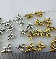 30/120/1000pcs Tibetan Gold/Silver Small Dragonfly Spacer Beads Jewelry 8x6mm