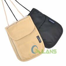 Travel Neck Pouch Holder Passport ID Cards Wallet Security Bag Pocket Anti-theft