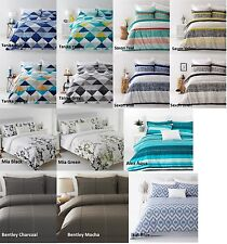 King Bed Size Quilt / Doona Cover Set  In 2 Linen Covers Cotton Blend NEW