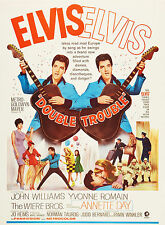 """DOUBLE TROUBLE ""ELVIS PRESLEY .Classic Movie Poster A1A2A3A4 Sizes"