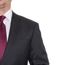 Modern Fit Solid Charcoal Gray Two Button Super 150's Wool Suit