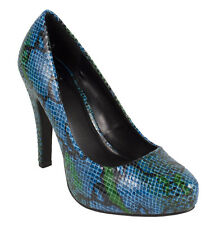 TERRA! Delicious Women's Stilleto Hidden Platform Dress Pumps Snake Pattern