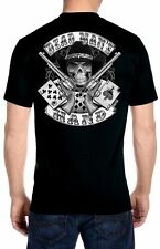 Mens Aces And Eights Cowboy Skull Dead Mans Hand Biker Hanes Beefy-T T-shirt