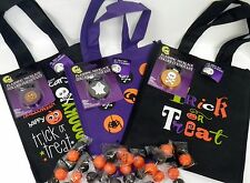 Halloween Treat Bag, and Safety Strobe Flasher Necklace, Halloween Bag & Light