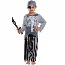 CHILDRENS ZOMBIE PIRATE SKELETON GHOST SHIP HALLOWEEN FANCY DRESS COSTUME OUTFIT