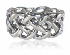 Mens or Womans Infinity Celtic Swirl Crossover Knot Ring Sterling Silver - 9 mm