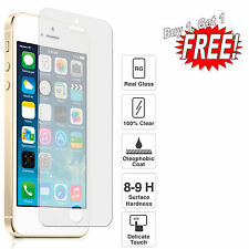 100% GENUINE TEMPERED GLASS SCREEN PROTECTOR for Apple iPhone 5 5S 5C 6 6S 6PLUS