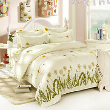 Single Double Queen King Size Bed Set Pillowcases Quilt Duvet Cover Taraxacum