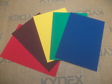 KYDEX T SHEET 2MM A4 A3 A2 SIZE SHEATH HOLSTER MATERIAL BLUE RED YELLOW GREEN