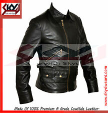 vintage style black leather jacket,1970's style Leather Jacket,  RRP $375