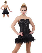 Nowadays Flapper Dress Jazz Tap Ballet Sequins/Feathers Dance Costume USA
