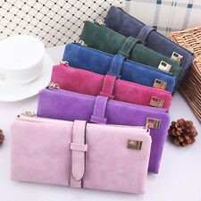 2015 New Fashion Women Matte Leather Long Clutch Wallet Coin Purses Card Holder