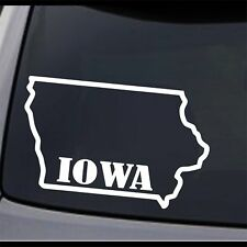(2x) Iowa State Map IA Home State Outline Vinyl Decal Sticker