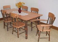 Rustic Hickory Farm Table and Chair Sets HICKORY & OAK *Natural or Walnut Stain*