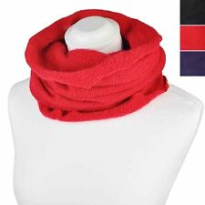 Ladies Infinity Neck Knit Warm Loop Winter Snood Scarf Circle