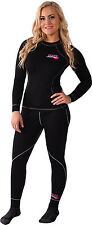 FXR Womens Black Snowmobile Vapour 20% Merino Long Sleeve Top Base Layer