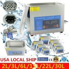 Stainless Steel 2/2.7/5/6/9L Liter Industry Heat Ultrasonic Cleaner Heater Timer